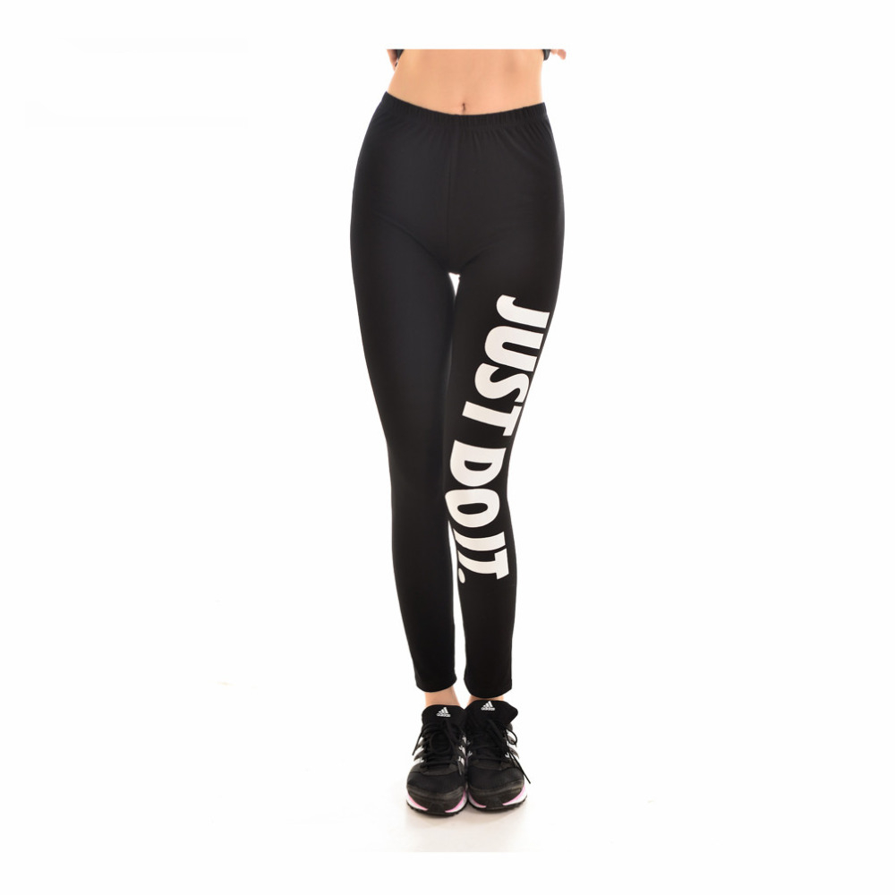 dafe47dd8aa39a Sexy Just Do It Black Color Workout Leggings - Cute n Quirky